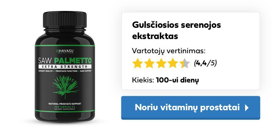 vitaminai prostatai