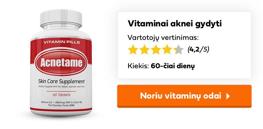 vitaminai aknei gydyti