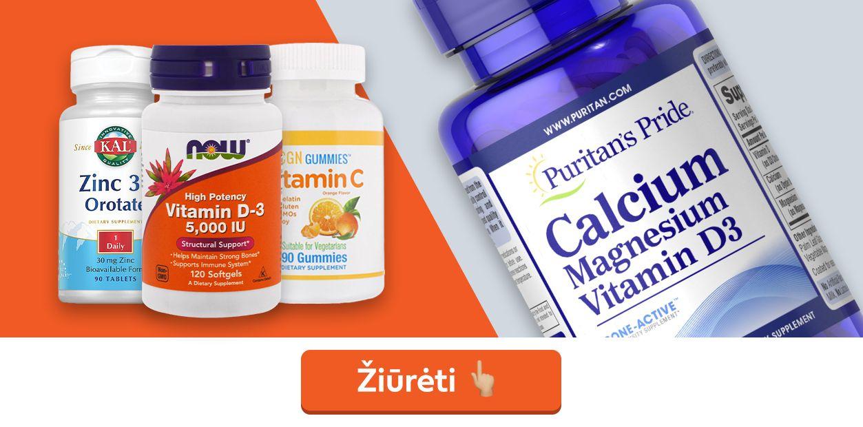 vitaminai imunitetui stiprinti