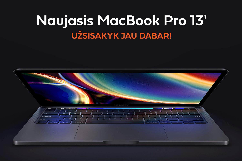 Naujiena iš Apple: dar galingesnis ir greitesnis MacBook Pro (2020)