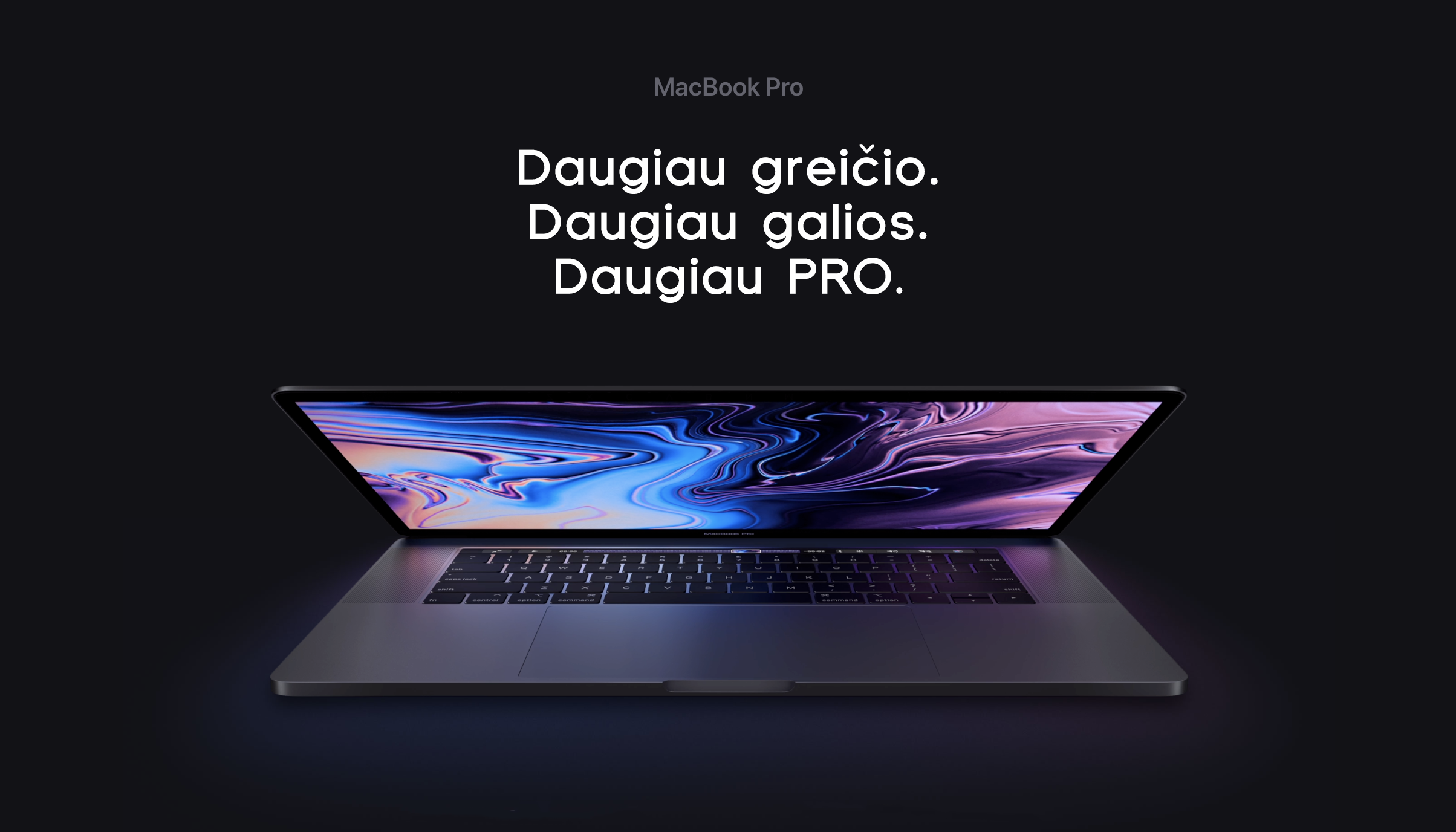 Naujasis MacBook Pro 2019 - ko tikėtis iš greičiausio egzistuojančio nešiojamo Mac?