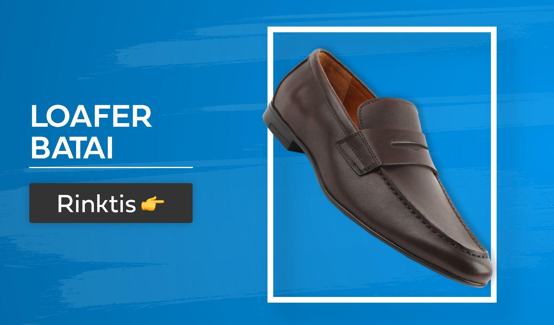 loafer batai vyrams