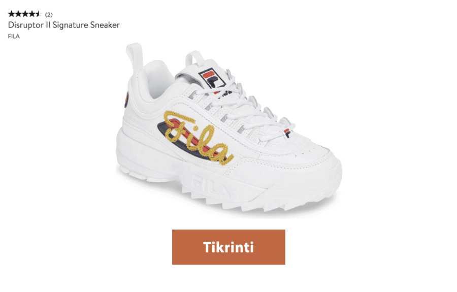 fila storapadžiai batai