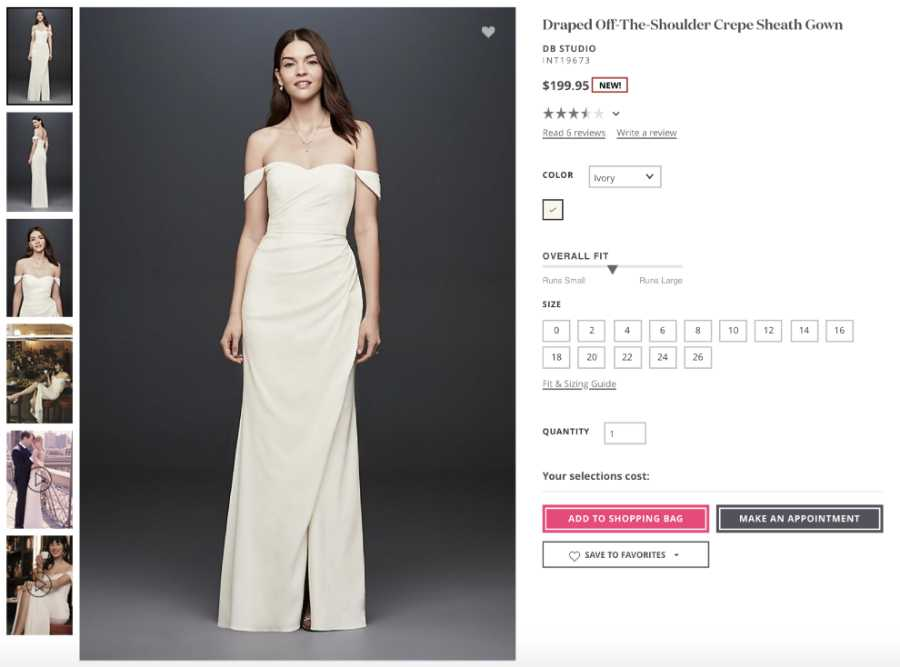 vestuvine suknele is jav Draped Off-The-Shoulder Crepe Sheath Gown