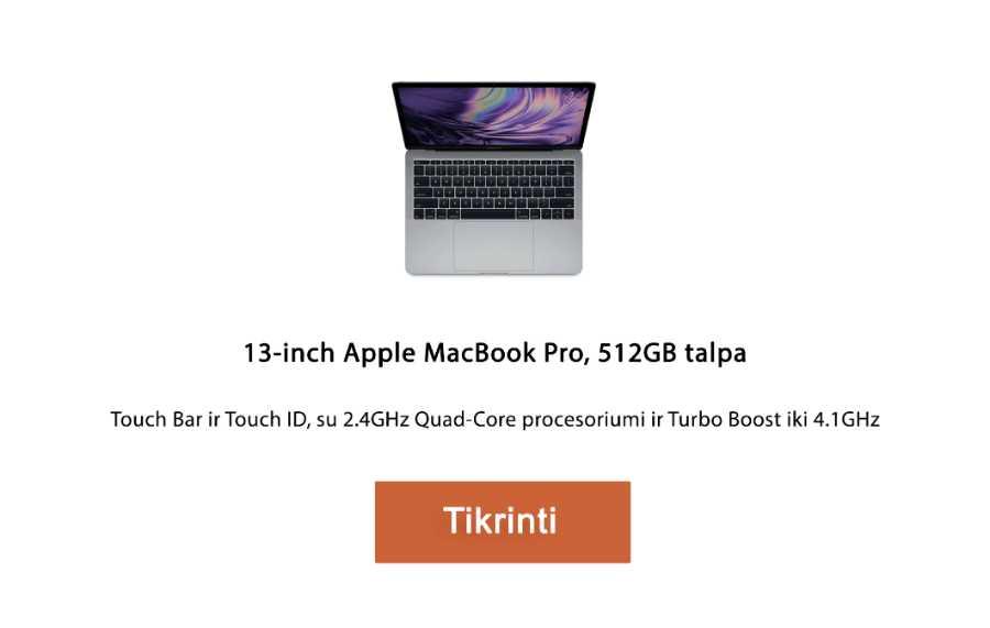 apple kompiuteris 13‑inch Apple MacBook Pro, 512GB