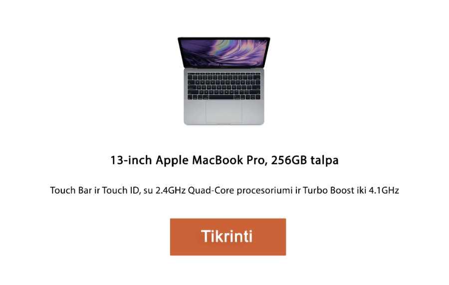 apple kompiuteris 13‑inch Apple MacBook Pro, 256GB