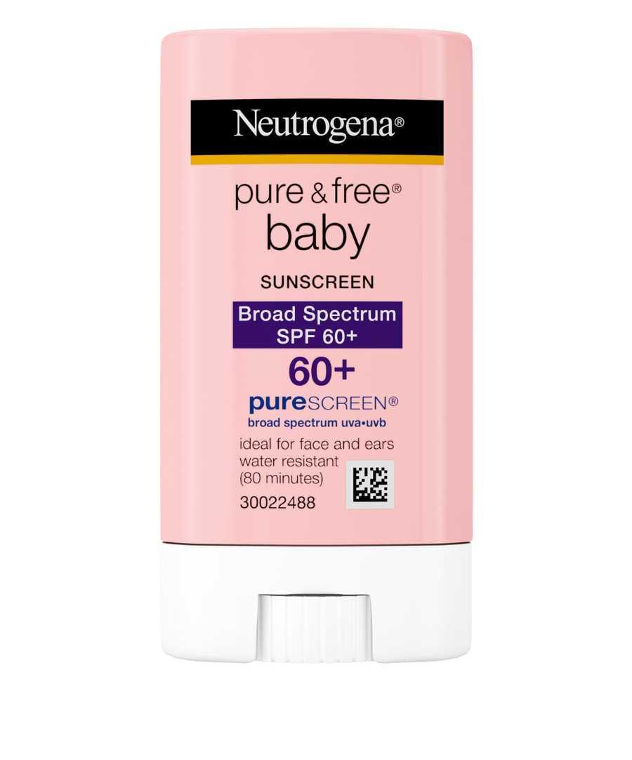 kremas nuo saulės kūdikiams Neutrogena Pure & Free Baby Sunscreen Stick SPF 60