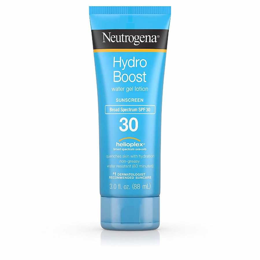 kremas nuo saulės Neutrogena Hydro Boost Gel Moisturizing Sunscreen Lotion with Broad Spectrum and Water-Resistant, SPF 30