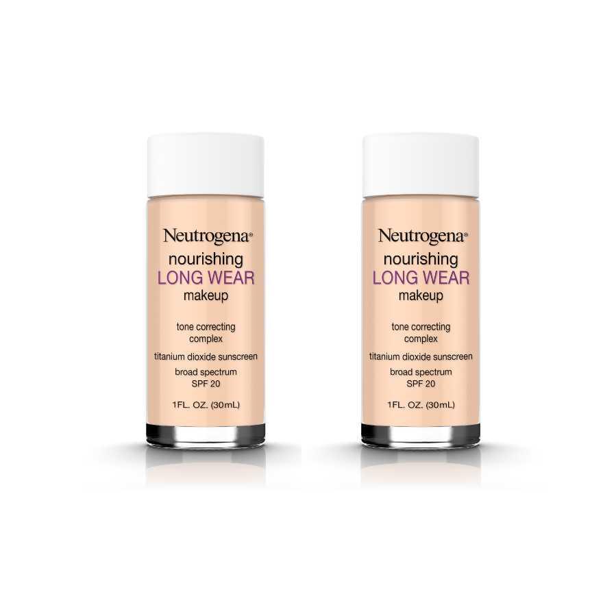saulės kremas makiažo pagrindas Neutrogena Nourishing Long Wear Liquid Makeup Foundation With Sunscreen, 40 Nude