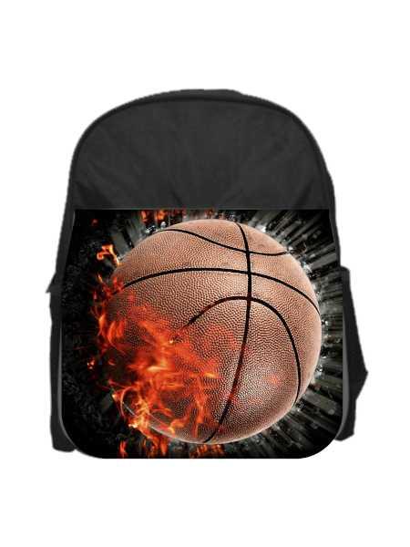 kuprinė su krepšinio kamuoliu