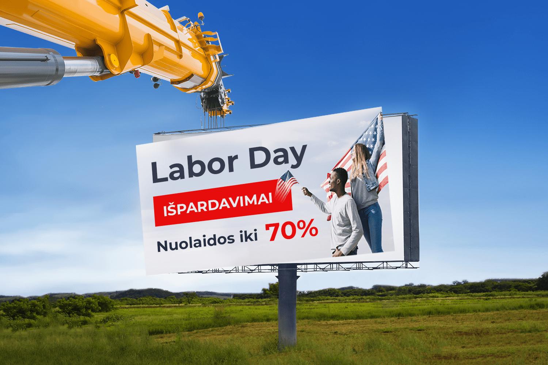 """Pasinaudok amerikiečių užtarnautomis """"Labor day"""" nuolaidomis"""