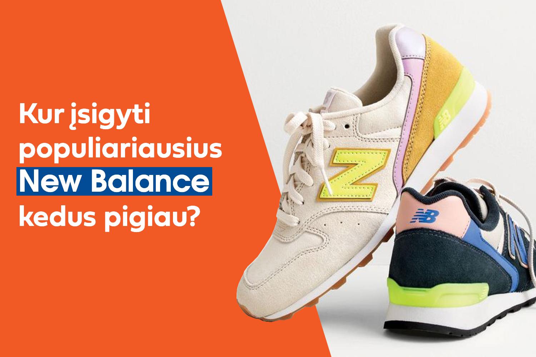 New Balance kedai: Top 6 populiariausi modeliai